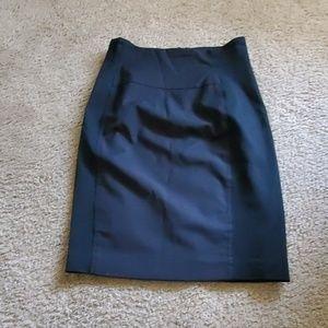 Bebe pencil black skirt